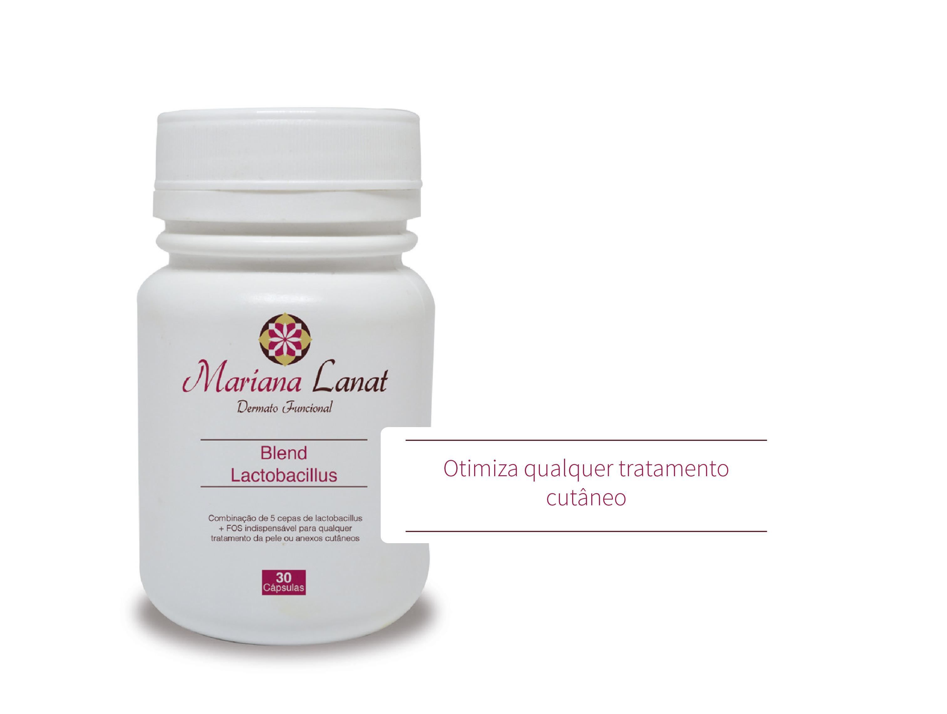 Combinação de 5 cepas de lactobacillus + FOS, para otimizar qualquer tratamento cutâneo.