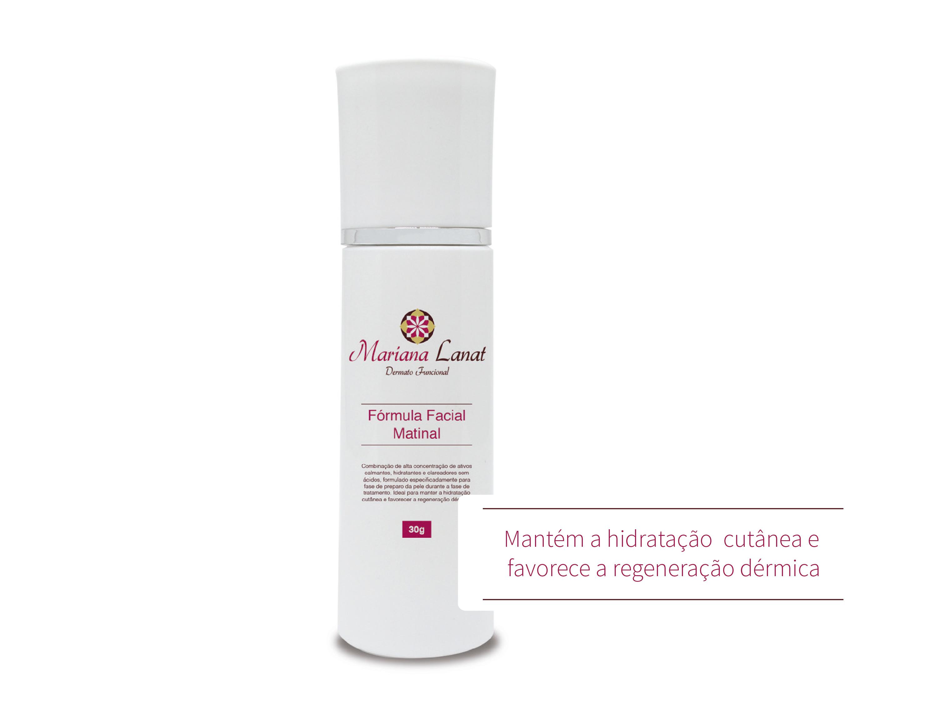 Combinação de alta concentração de ativos calmantes, hidratantes e clareadores sem ácidos, formulado especificadamente para fase de preparo da pele durante o tratamento. Ideal para manter a hidratação cutânea e favorecer a regeneração dérmica.