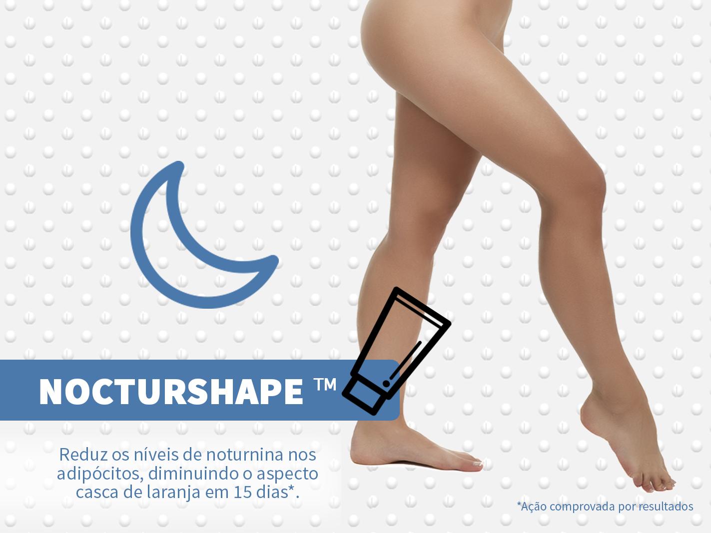 Nocturshape age na celulite no ritmo circadiano durante a noite