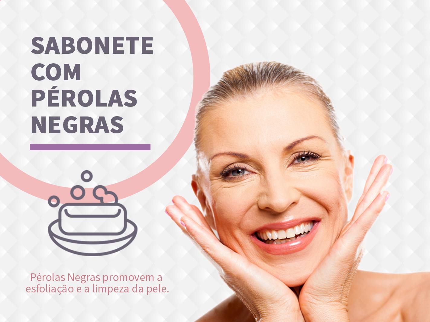Pérolas negras promovem esfoliação e limpeza da pele
